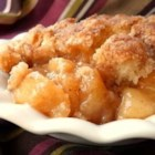 Fresh Southern Peach Cobbler - Sweet Georgia peaches are topped with homemade biscuits creating a bubbling Southern-style peach cobbler perfect for summer nights.