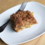 Apple Cobbler Crumble Recipe - Granny Smith apples are layered with a buttery cobbler producing a deliciously moist apple cobbler-crumble for any day of the week.