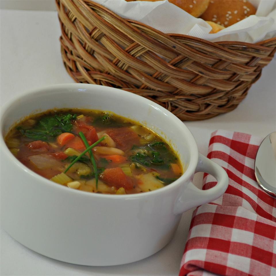 Receita de Sopa de Minestrone Vegetal Saudável de Judy