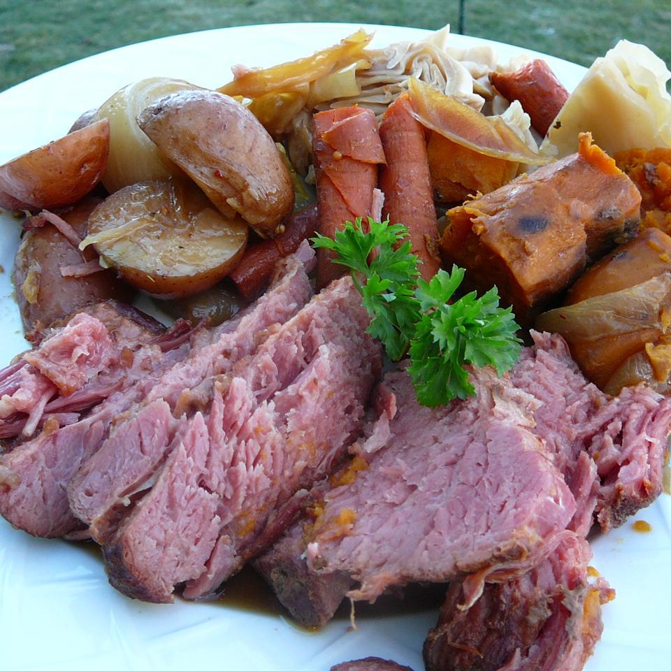 Receita de Carne Enlatada e Legumes Stout Slow Cooker