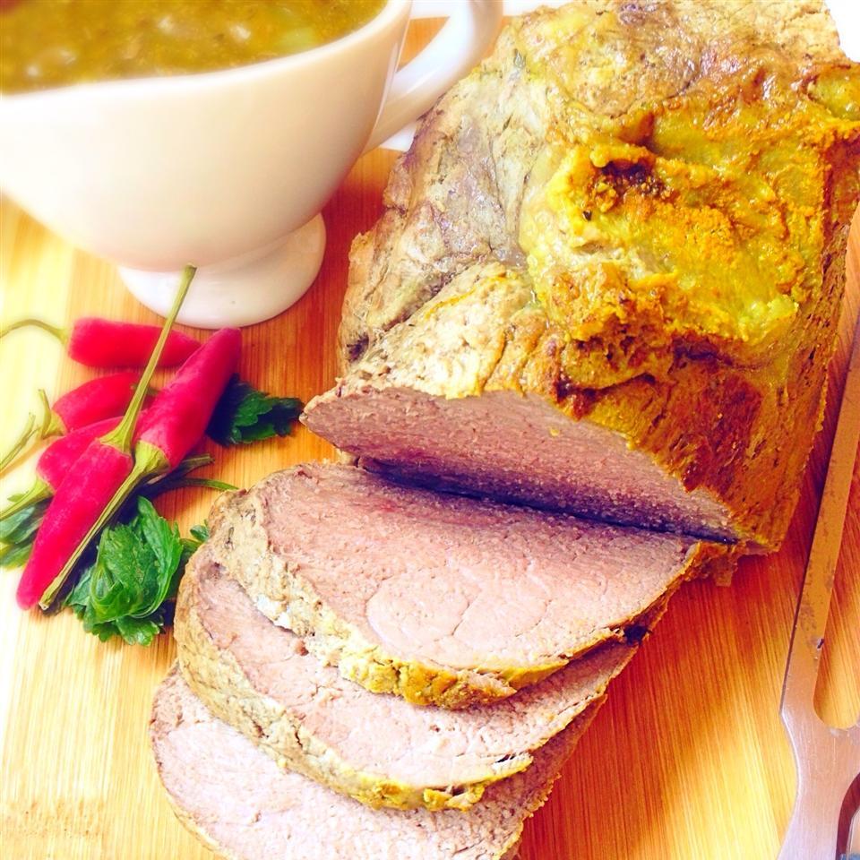 Receita assada de lombo de carne cozida lenta