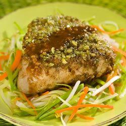 Receita de Bifes de Atum Incrustado wasabi