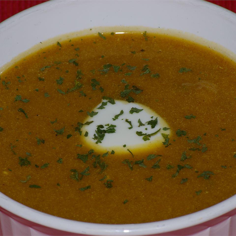 Receita de Sopa de Abóbora De Manteiga Assada e Curried
