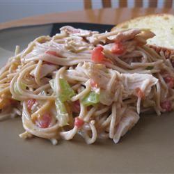 Receita de Espaguete de Frango Chile