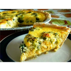 Easy Broccoli and Spinach Quiche