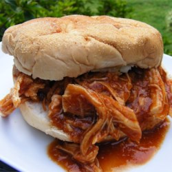 Zesty Slow Cooker Chicken sandwich