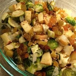 Roasted Apples and Brussels Sprouts Recipe
