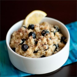 Blueberry Lemon Breakfast Quinoa Recipe