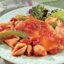 Chicken Cacciatore and Pasta