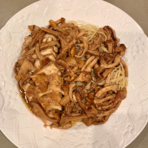 Chicken with Chanterelle Mushrooms and Marsala Wine Recipe - This take on a classic recipe combination of chicken and Marsala wine uses chanterelle mushrooms and plenty of butter to deliver a tasty chicken main dish.