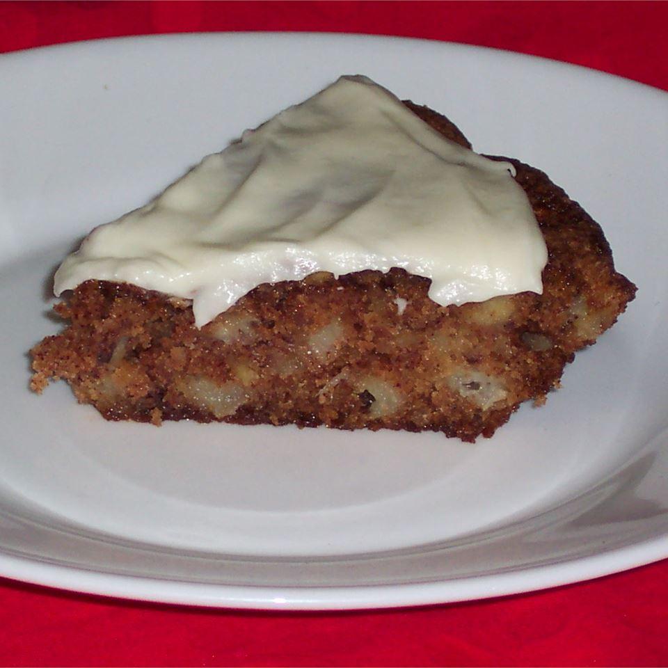Torta de maçã francesa com receita de cobertura de queijo creme