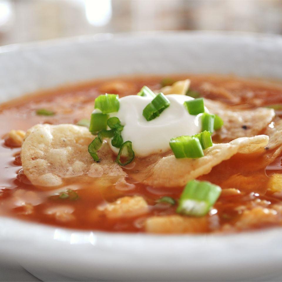 Receita de Sopa de Tortilla de Frango V