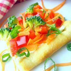 Receita de Garden Veggie Pizza Squares