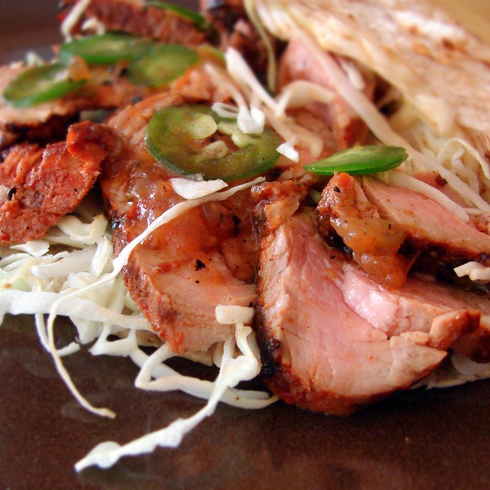 Receita de Tacos de Porco Grelhado al Pastor
