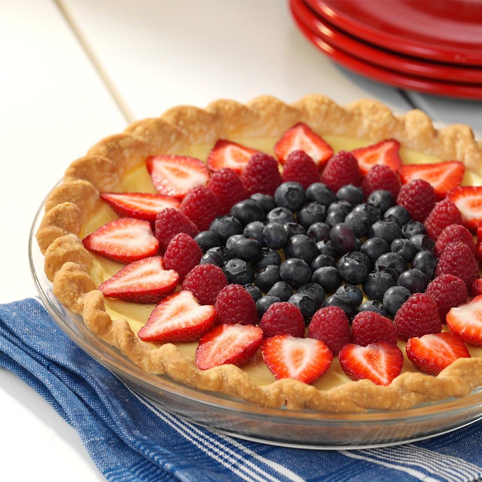 Receita de Torta de Creme de Frutas Frescas