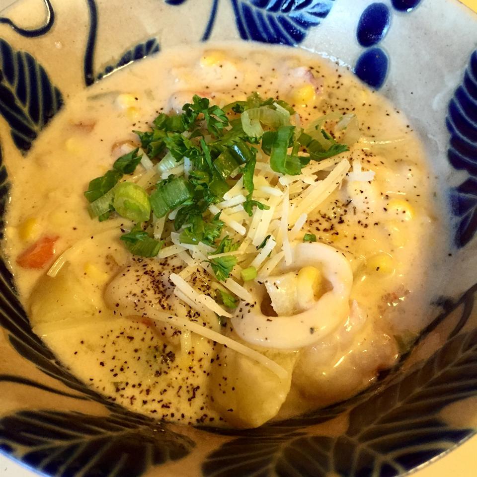Receita de Chowder de Frutos do Mar