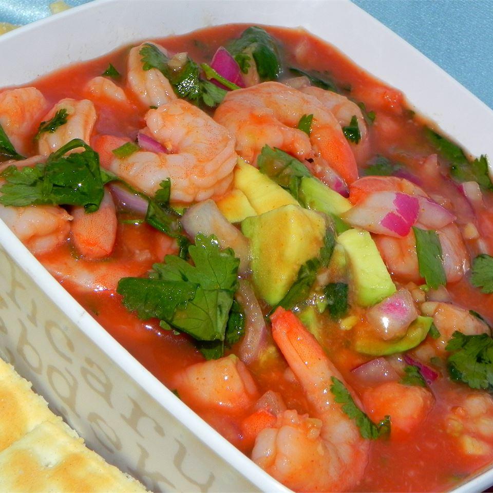 Receita mexicana de coquetel de camarão
