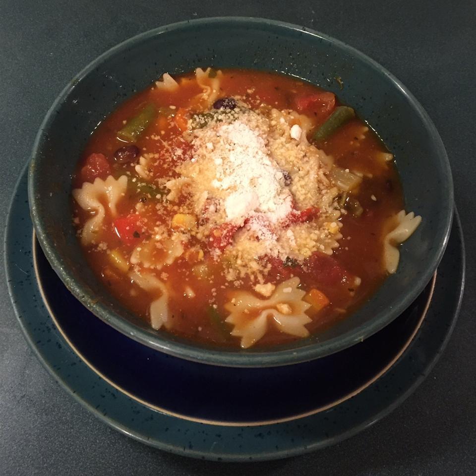 Receita de Sopa de Minestrone da Vovó Gorda