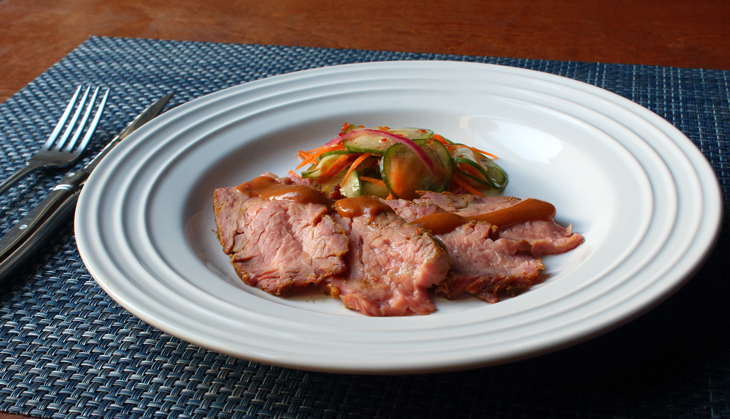 Receita de Ponta Tri de Carne De Sinuando Tailandês