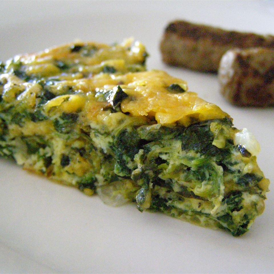 Receita de Quiche de Espinafre Sem Crosta