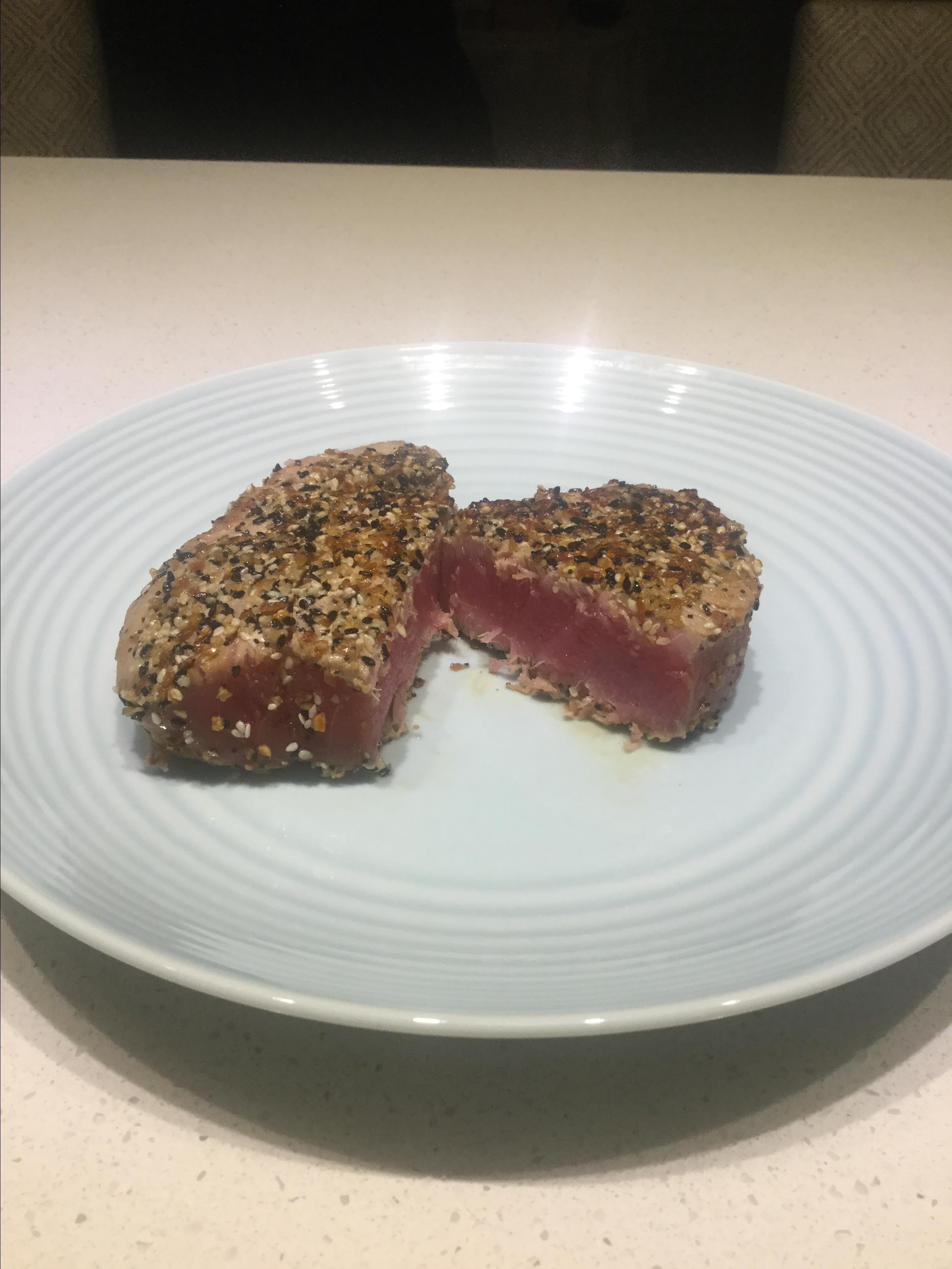 Receita asiática de sésamo ou atum grelhado (sem glúten)