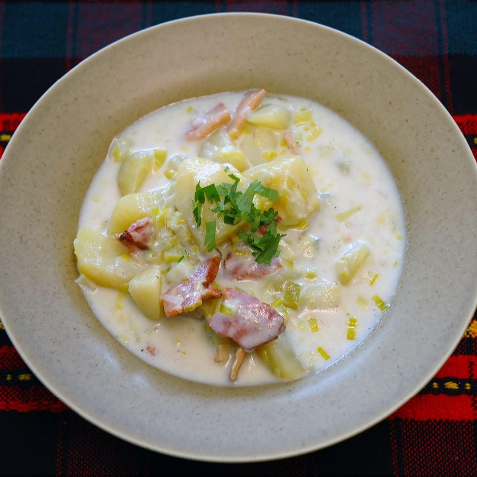 Receita de Sopa de Alho-poró de Batata Cremosa II