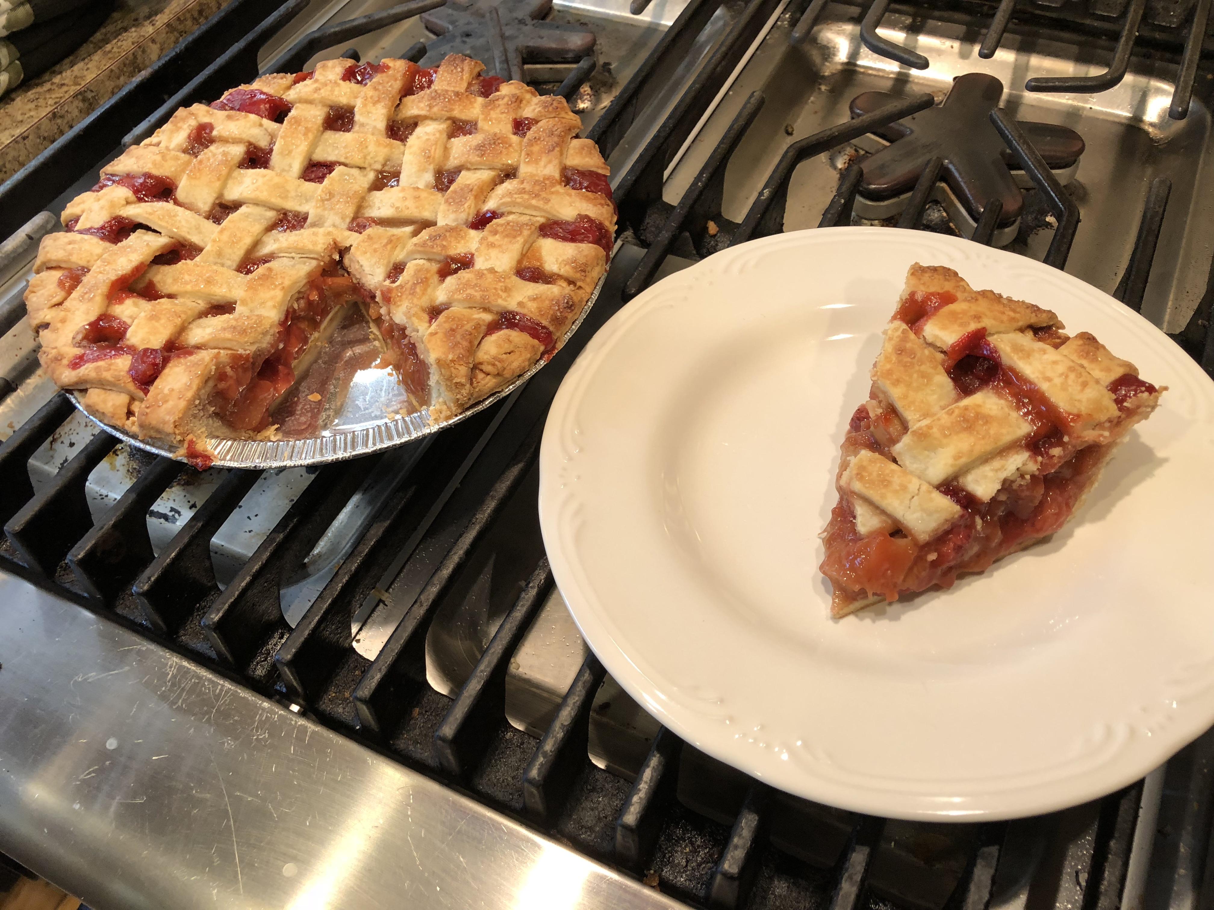 Minha própria receita de torta de ruibarbo de morango