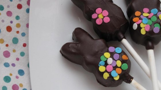 Instant Chocolate Covered Bunnies (On a Stick)