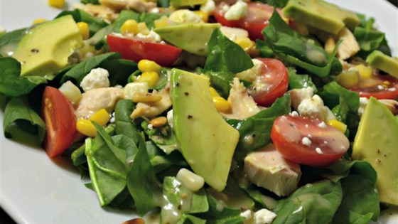 Spinach Salad with Chicken, Avocado, and Goat Cheese ...