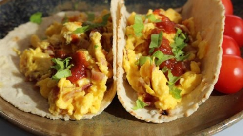 Image result for bacon and egg taco