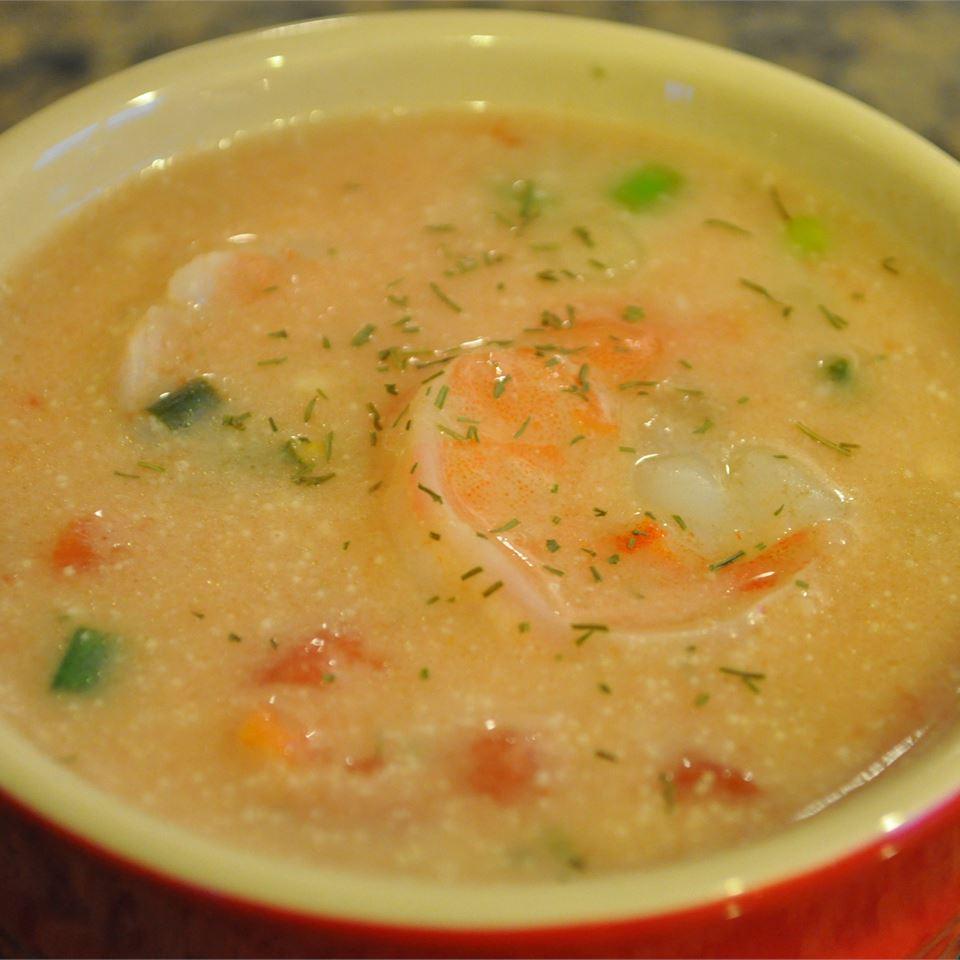 Receita de Camarão Picante e Sopa de Feijão Vermelho