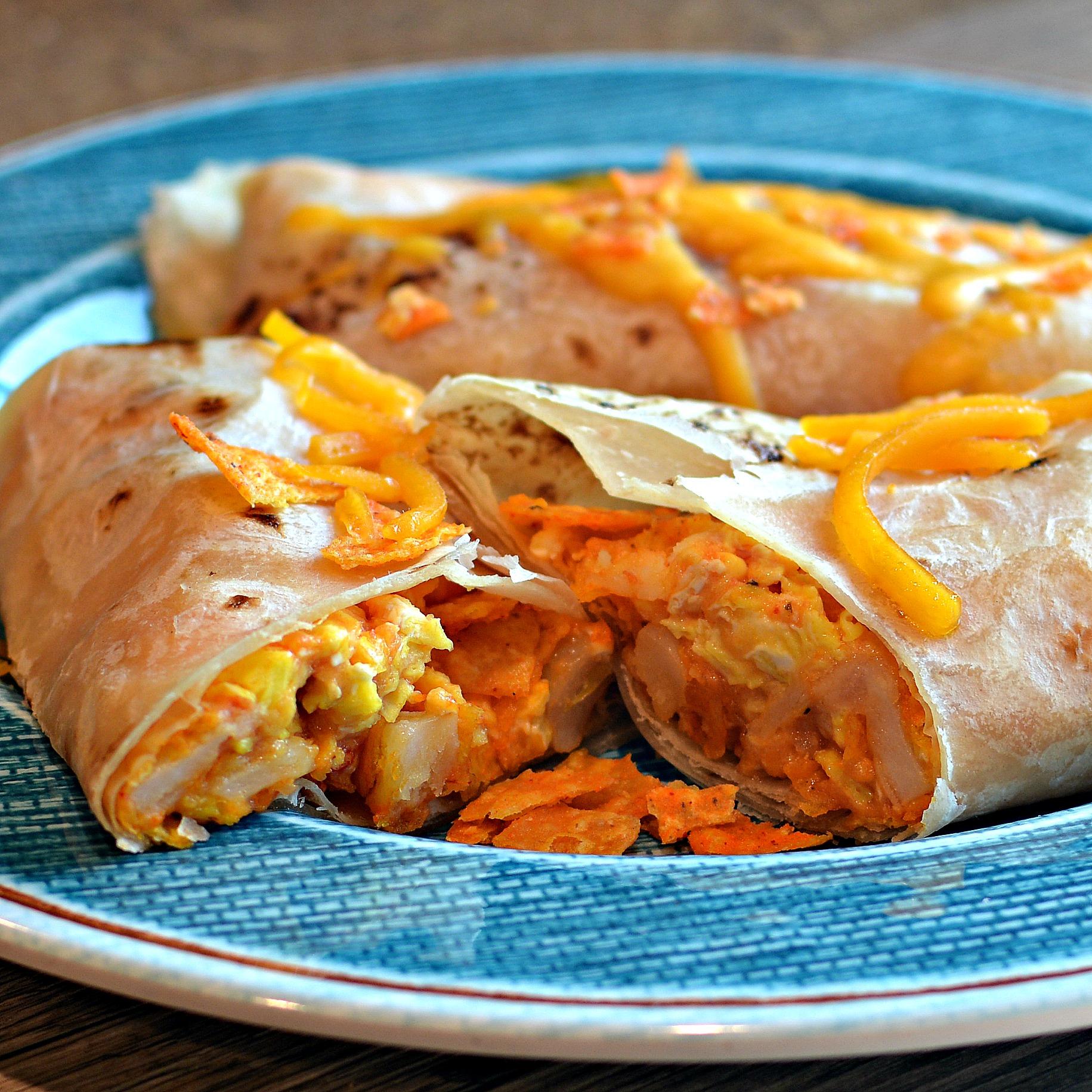 Receita de Burrito de Café da Manhã Cheesy da Nora Nacho