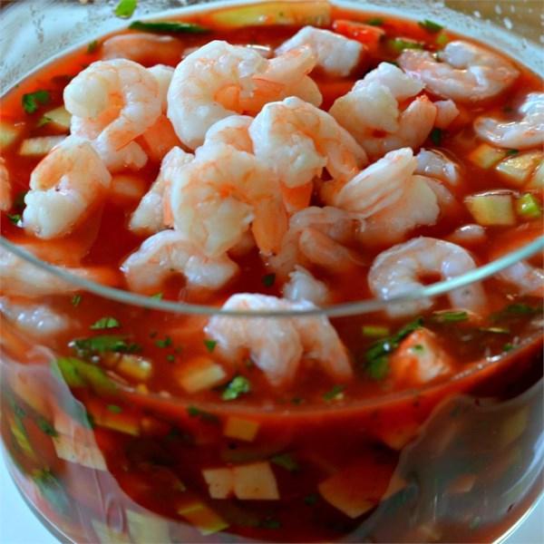 Receita original de coquetel de camarão mexicano