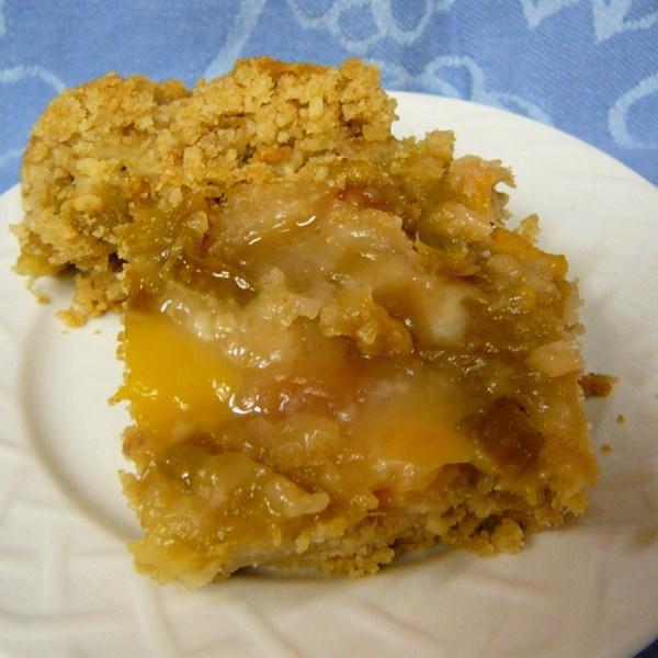 Receita de Rhubarb-Peach Crisp