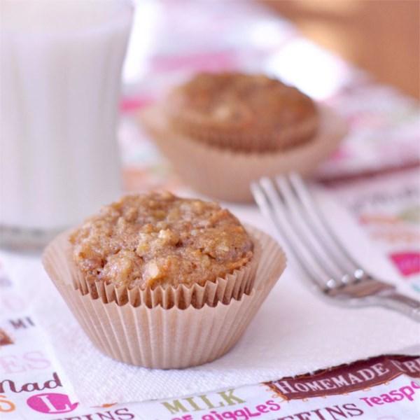 Receita de Muffins de Aveia de Cenoura