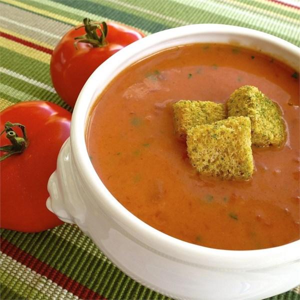 Receita de Sopa de Tomate Rápido e Fácil