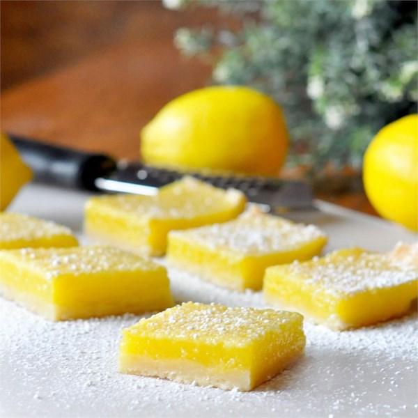 Receita de Barras de Torta de Limão