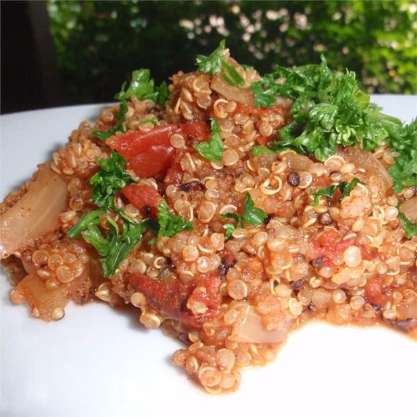 Receita mexicana de quinoa