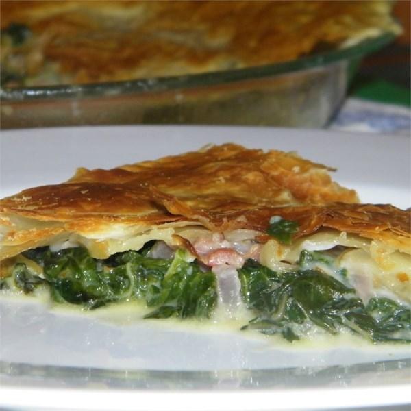 Torta de Espinafre com Receita de Pancetta