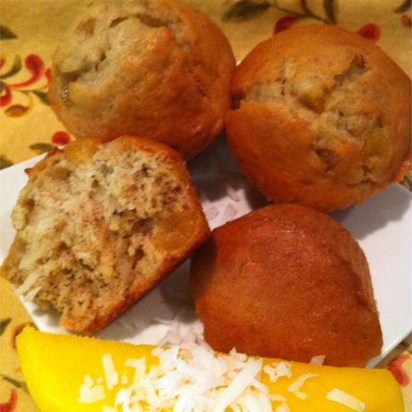 Receita de Muffins de Banana do Caribe