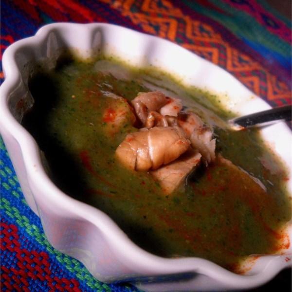 Receita de Sopa cremosa de espinafre e abobrinha