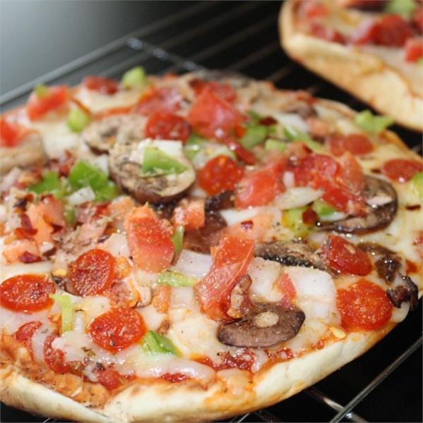 Receita de Pizza De Pita Vegetariana