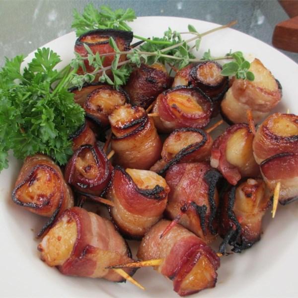 Receita de Vieiras Embrulhadas de Bacon Teriyaki