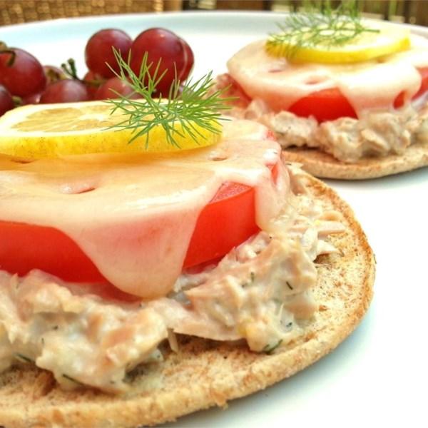 Receita de Sanduíches de Atum-Dill-Dill