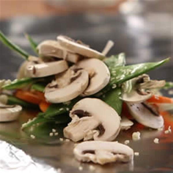 Receita de Pacotes Vegetarianos Asiáticos