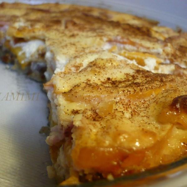 Receita de Torta de Queijo de Pêssego e Creme