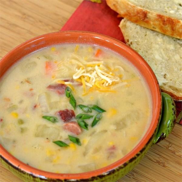Receita de Presunto fácil e Delicioso e Sopa de Batata