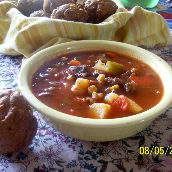 Receita de Sopa Vegetal de Carne de Panela Lenta