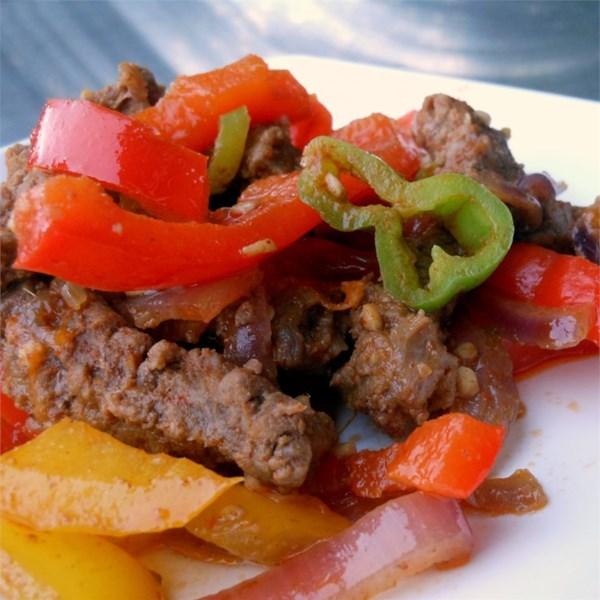 Receita de Fajitas de Carne Picante