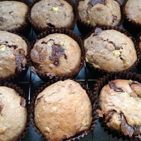 Receita de Muffins de Chocolate-Banana